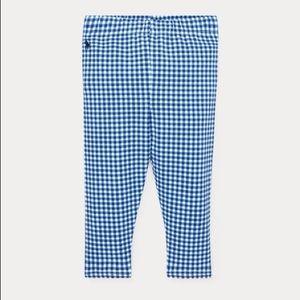 🆕 Ralph Lauren Baby Gingham Stretch Leggings